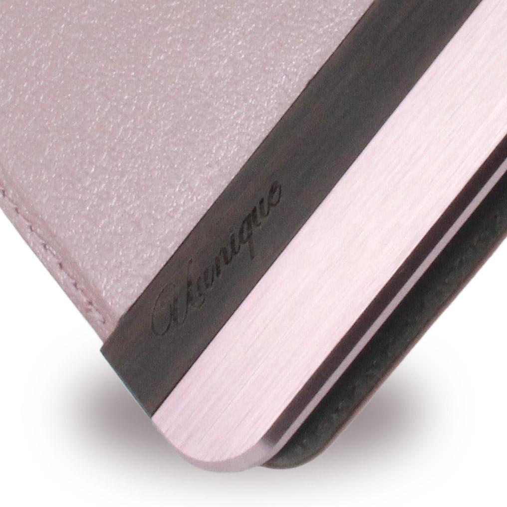 Uunique - Wooden/Aluminium UUOOS8PWC01 - Book Cover - Samsung G955 Galaxy S8 Plus - Pink