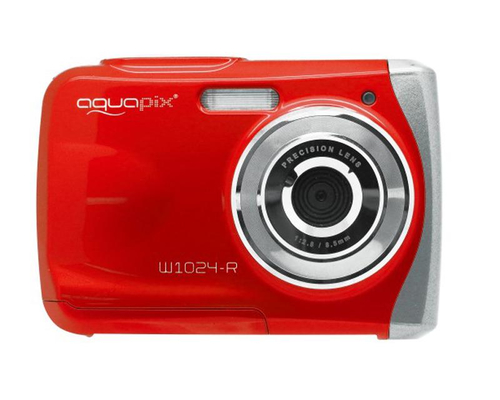 Easypix W1024 Splash Unterwasserkamera (Rot/Red)